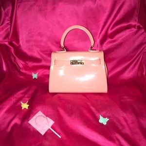 Handbags - Early 2000s Baby Pink Patent Purse
